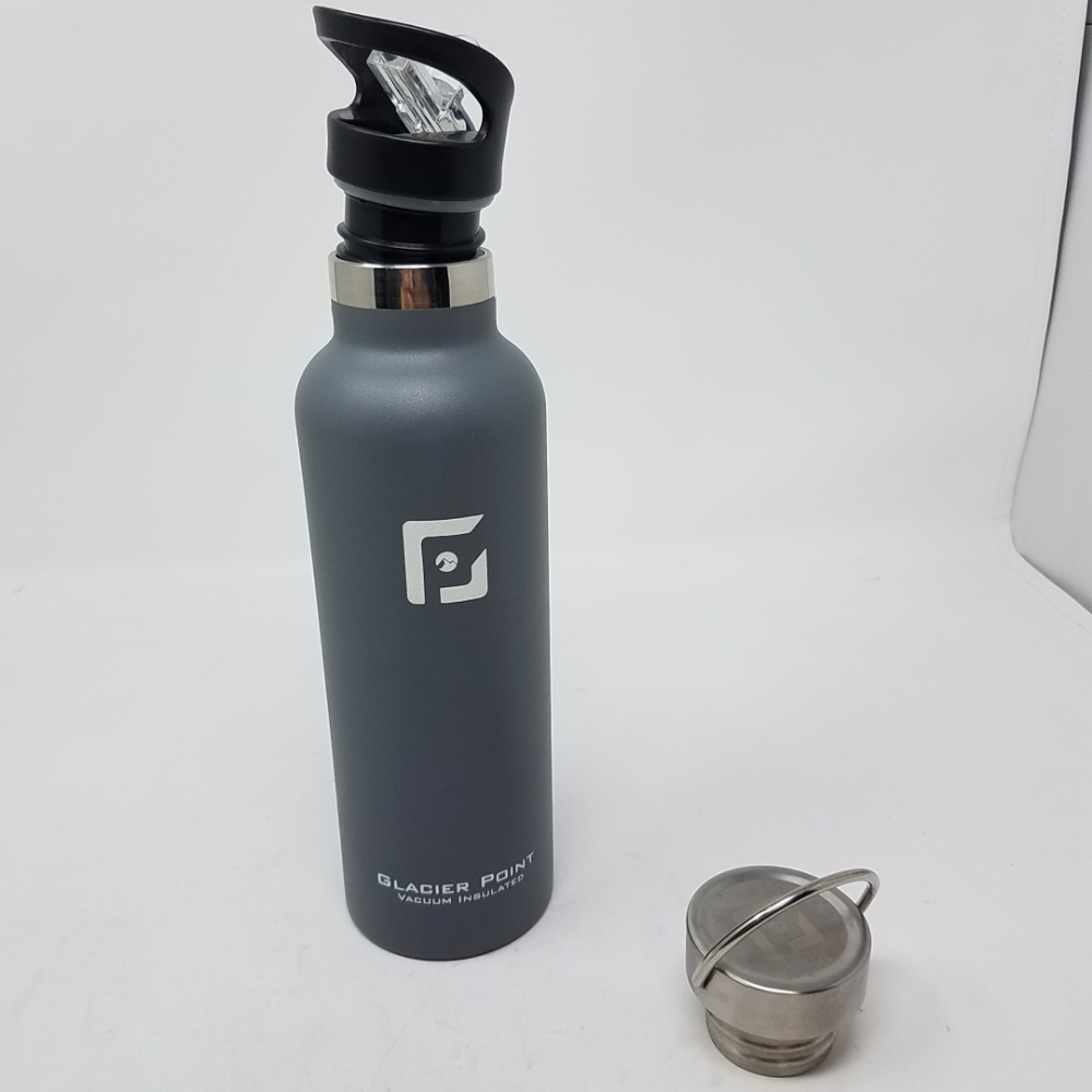 ad5f6fb8dd Details about Glacier Point Vacuum Insulated Stainless Steel Water Bottle  (Gray, 25 OZ)