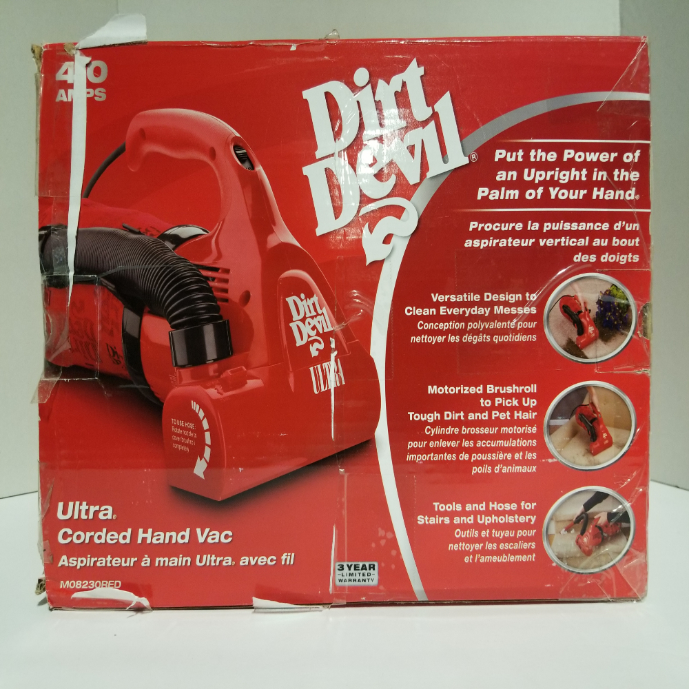 Dirt Devil Hand Vacuum Cleaner Ultra Corded Bagged Handheld Vacuum